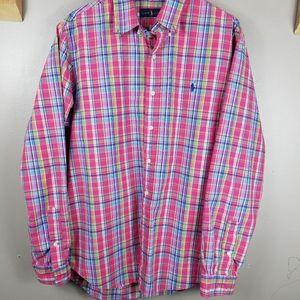 Ralph Lauren Pink Plaid Button Shirt